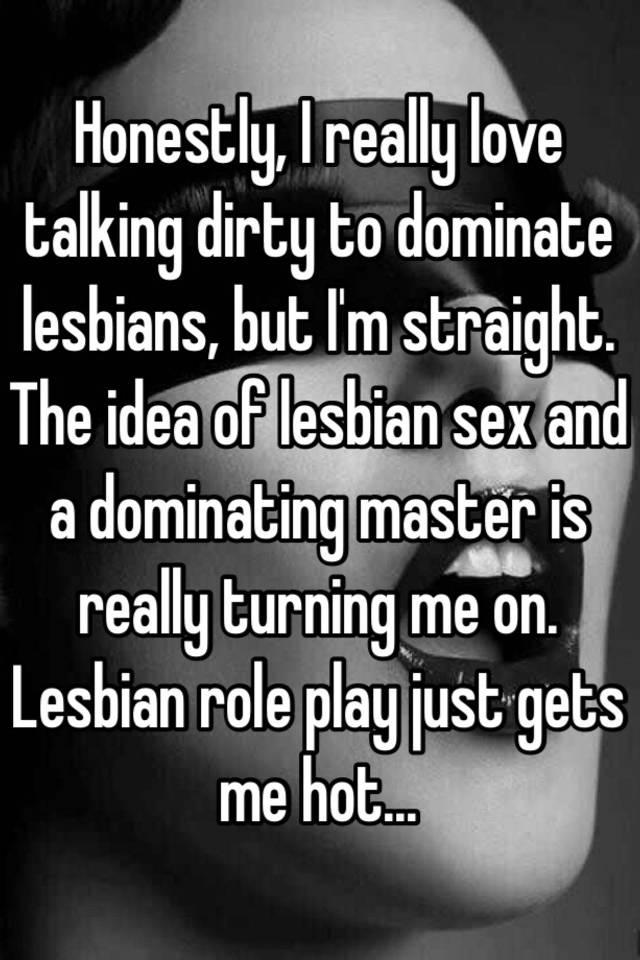 Lesbians talking dirty during sex