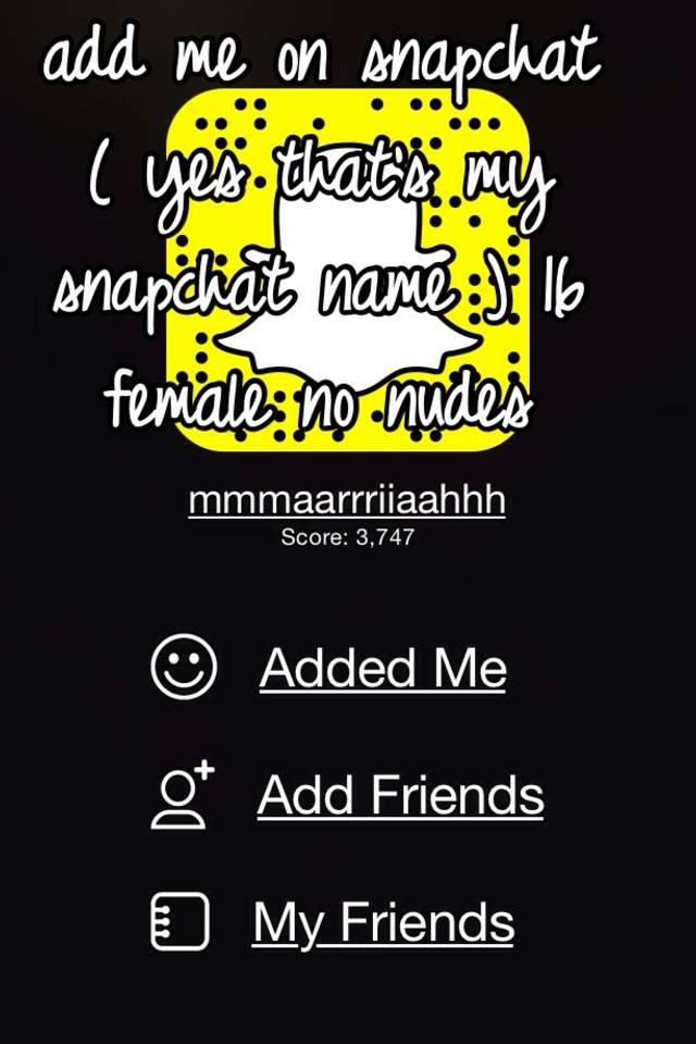 snapchat names nudes