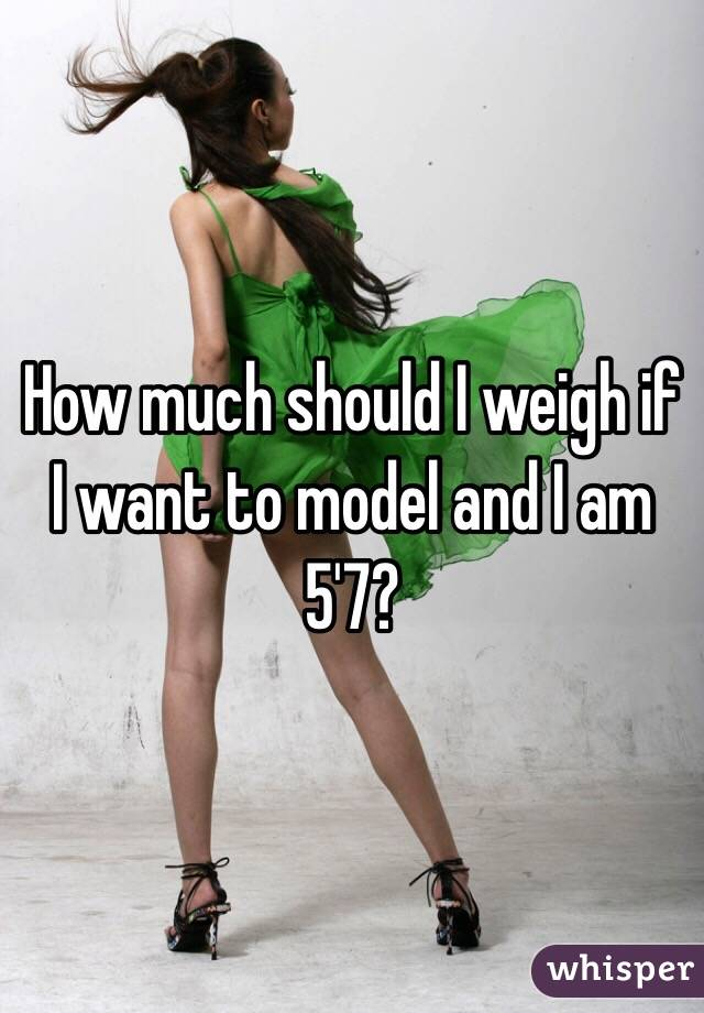 How much should I weigh if I want to model and I am 5'7?