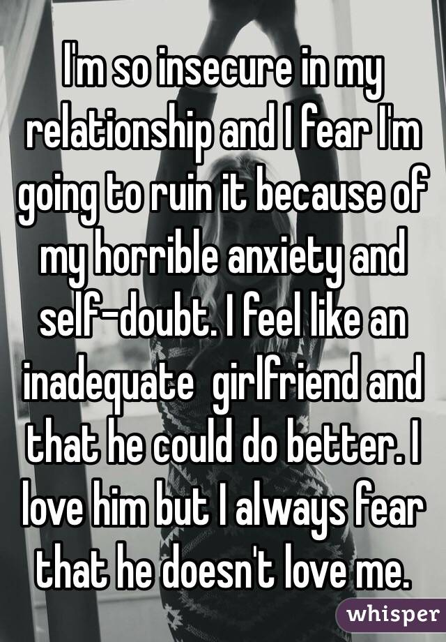 why am i insecure about my relationship
