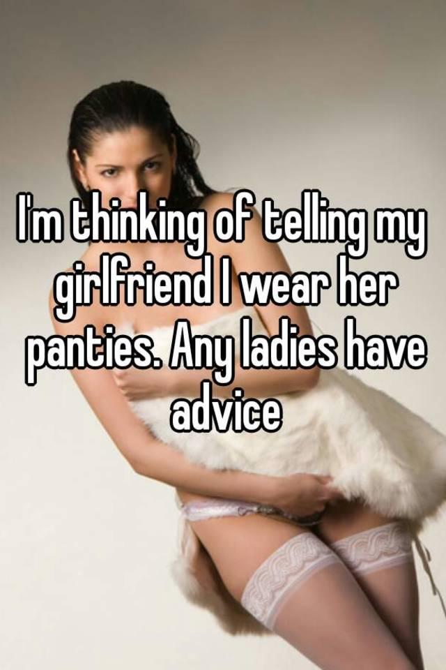 panties captions Her