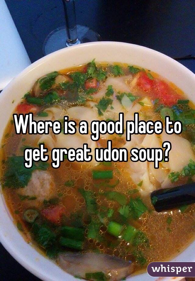 Where is a good place to get great udon soup?