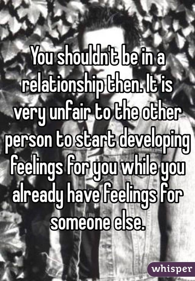 Hookup someone else while in a relationship