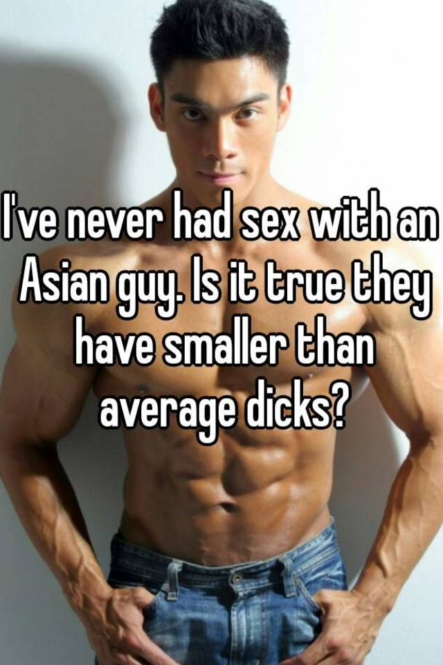 Having sex with an asian guy