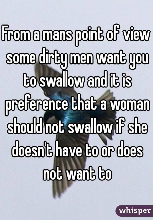 Why Do Men Like Women To Swallow