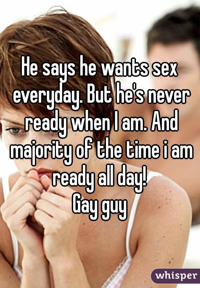 Guy ready for sex