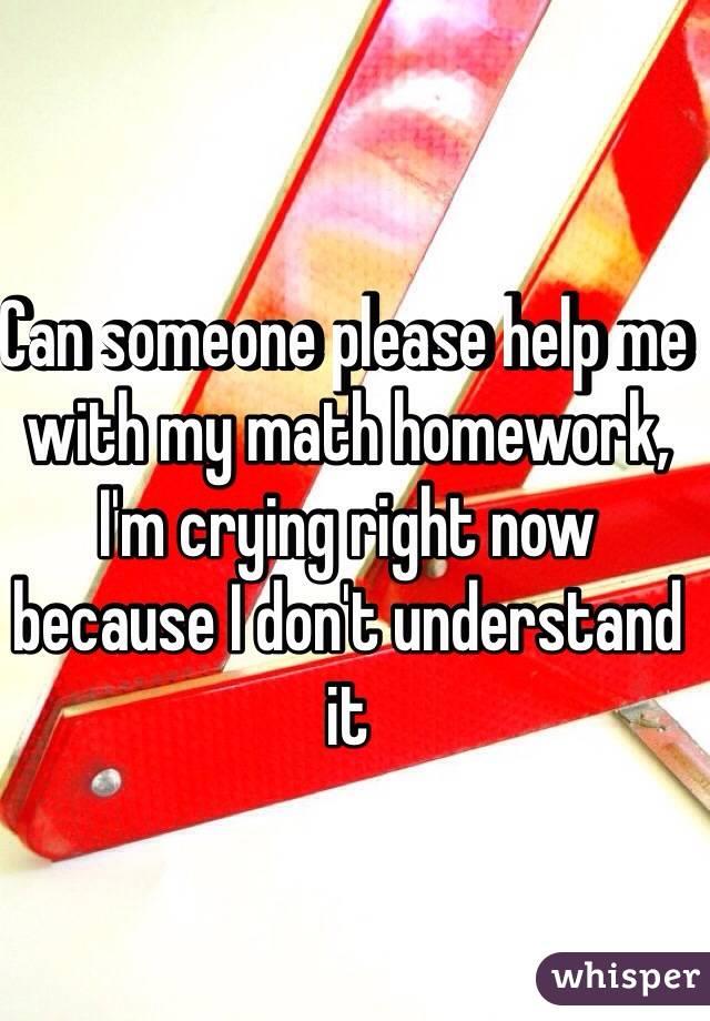 Please help me with my math homework