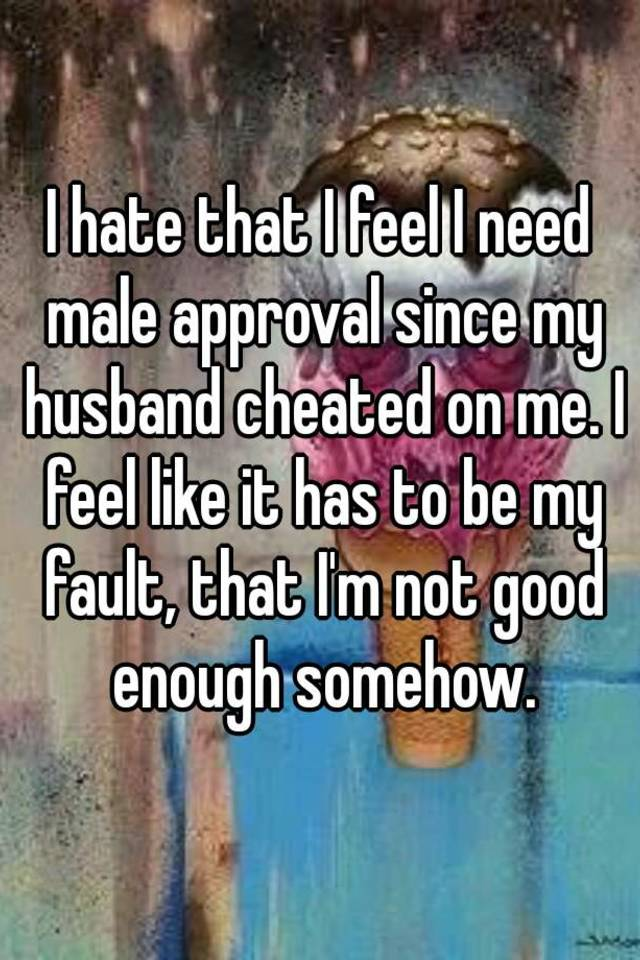 It my fault my partner cheated