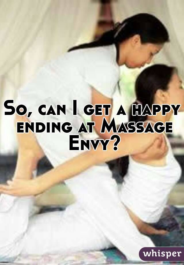 Happy endings massage envy