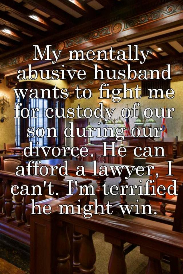 My abusive husband wants a divorce