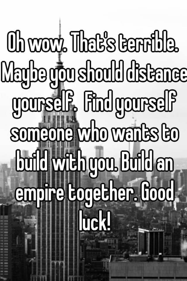 how to distance yourself from someone