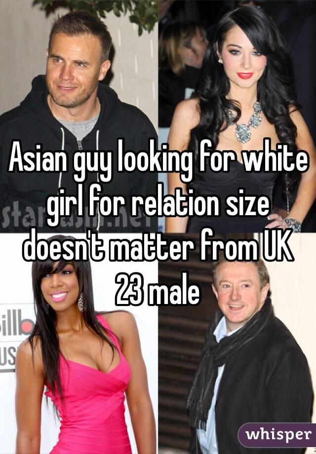 white girls looking for asian men