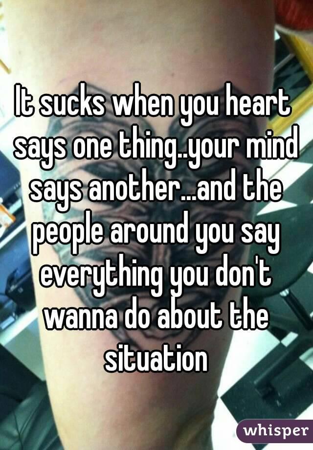 The situation sucks