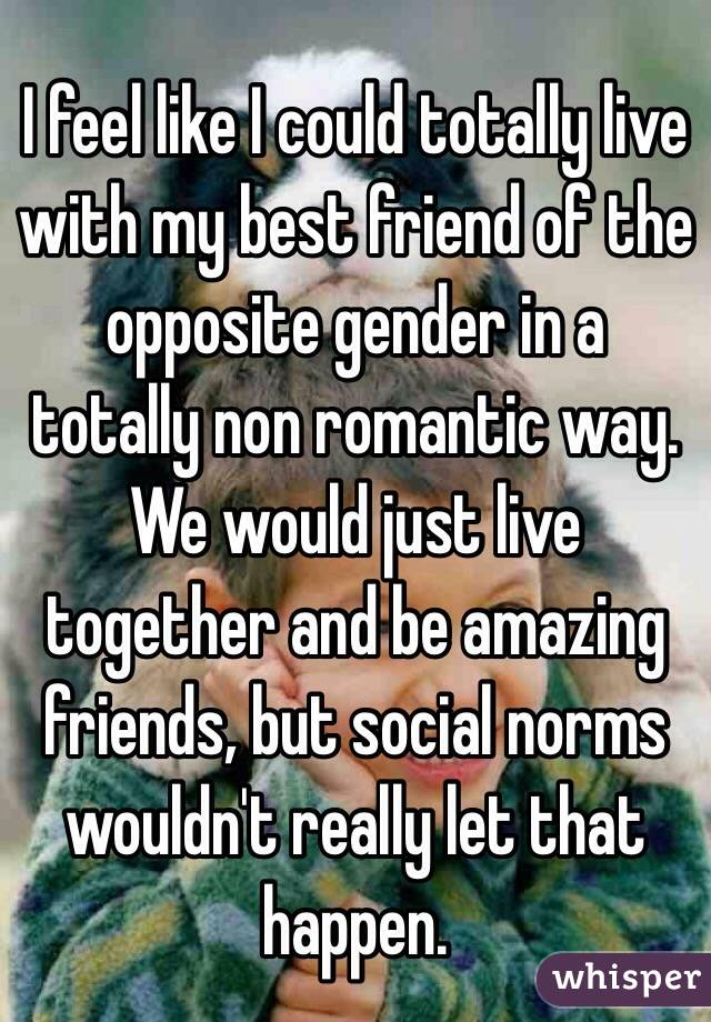 Best friends with the opposite gender