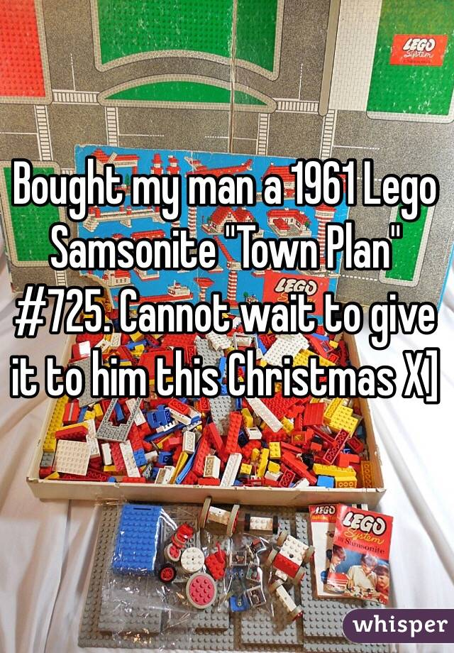 "Bought my man a 1961 Lego Samsonite ""Town Plan"" #725. Cannot wait to give it to him this Christmas X]"
