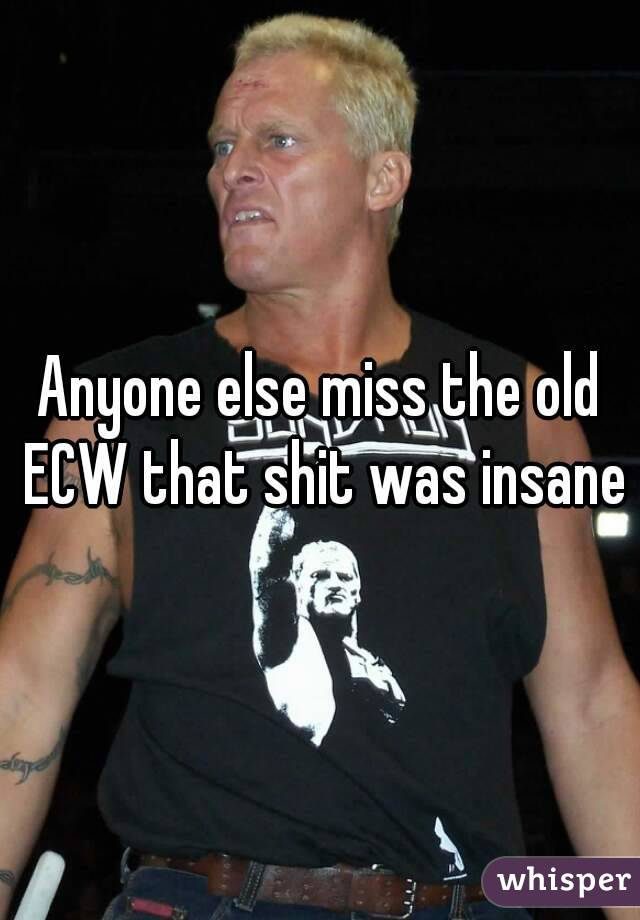 Anyone else miss the old ECW that shit was insane