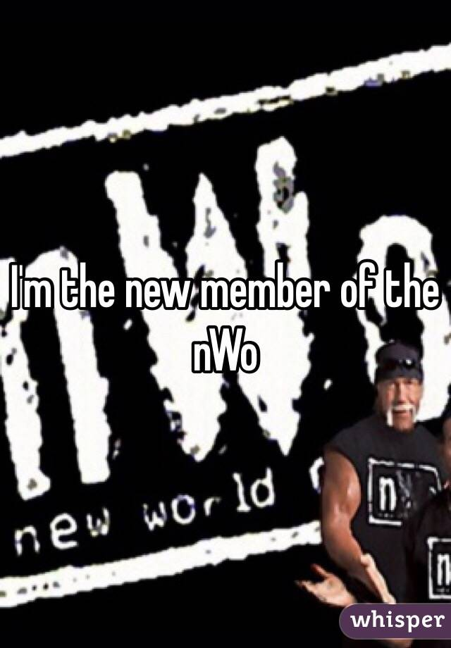 I'm the new member of the nWo