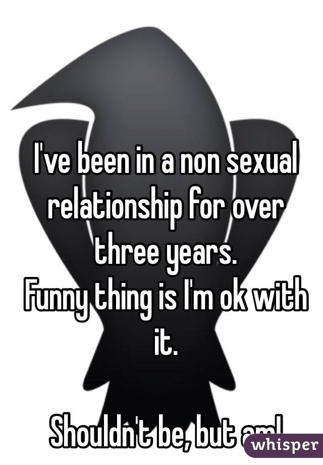 Non sexual relationship