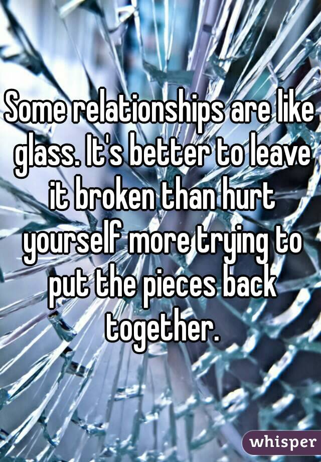 how to leave a broken relationship