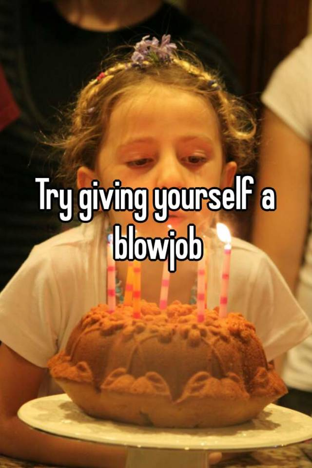 Giving yourself a blowjob