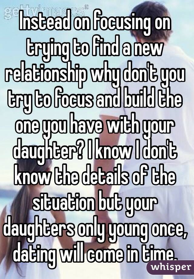 Finding a new relationship