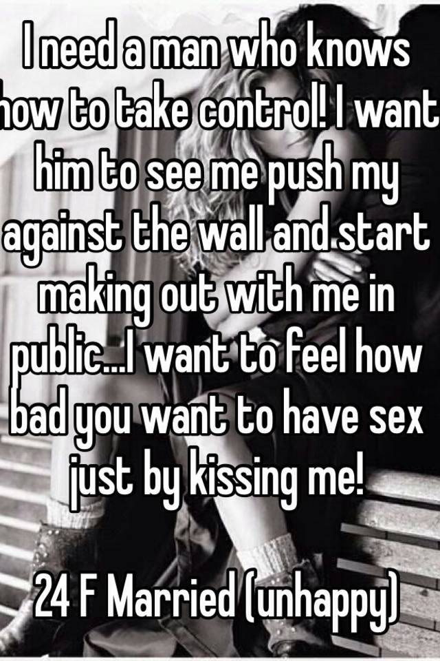 I want to have sex with another man
