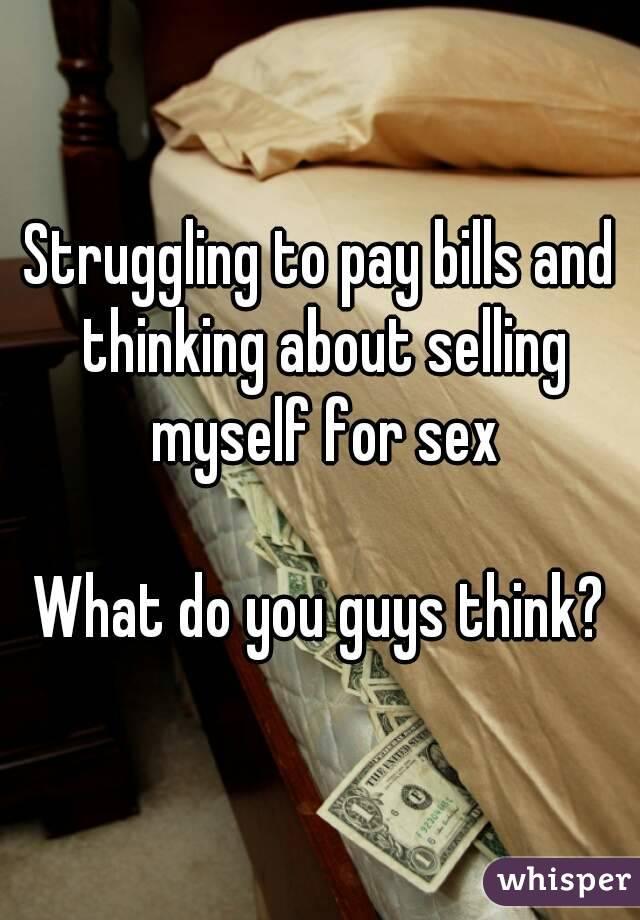 pay bills sex