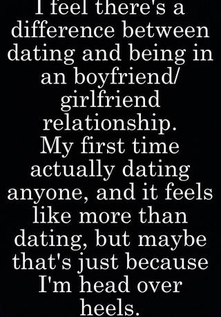 Is there a difference between dating and being boyfriend girlfriend