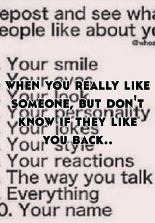 How to know if u like someone