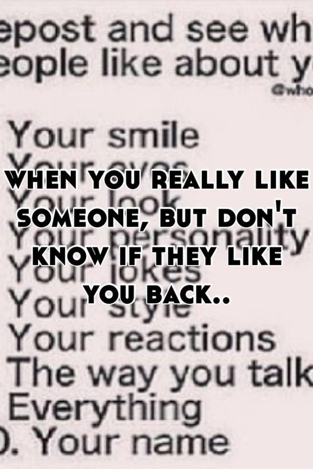 How do you know u like someone