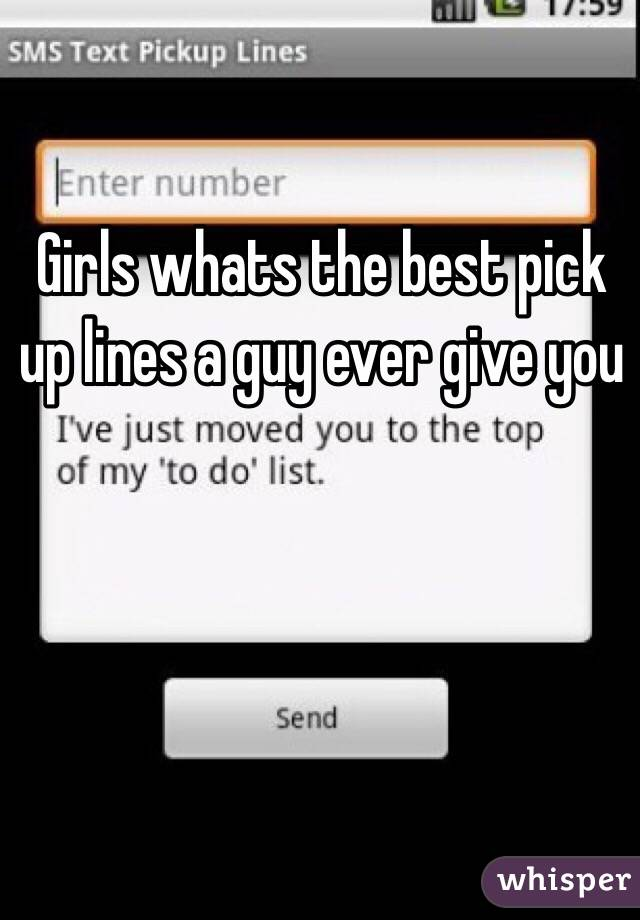 Best pick up lines ever