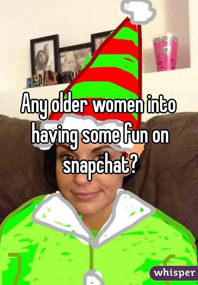Older women snapchat
