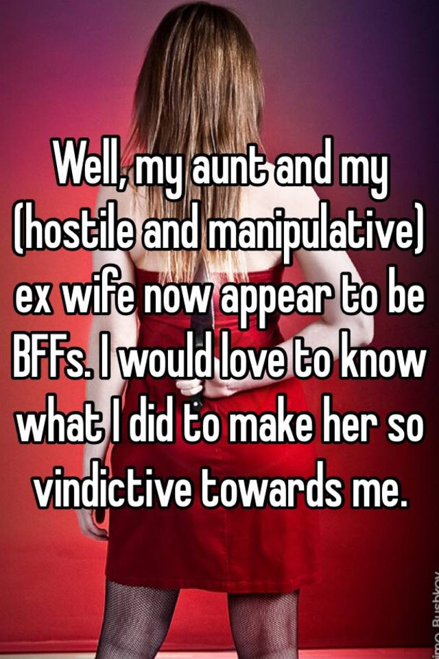 How to deal with a vindictive ex wife