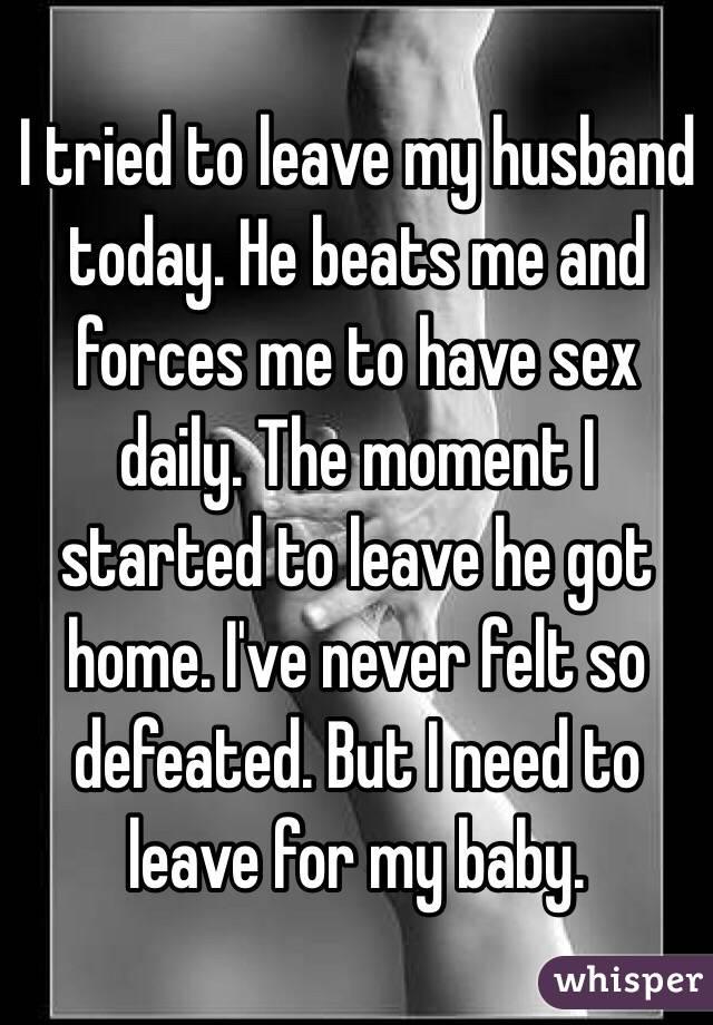 my husband beats me