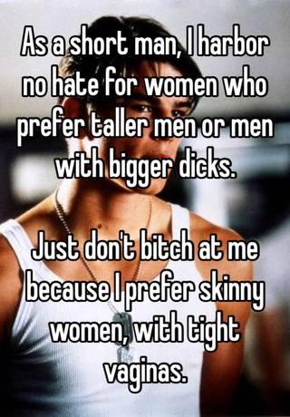 Men short women hate Why do