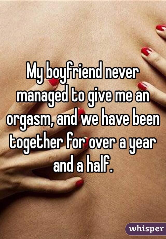 Half An Orgasm
