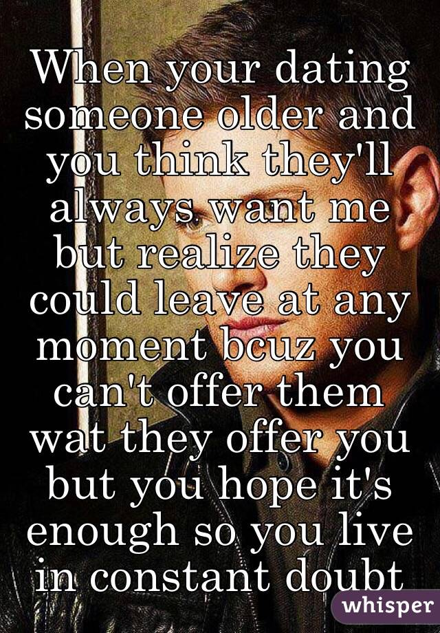 Dating Someone A Few Years Older