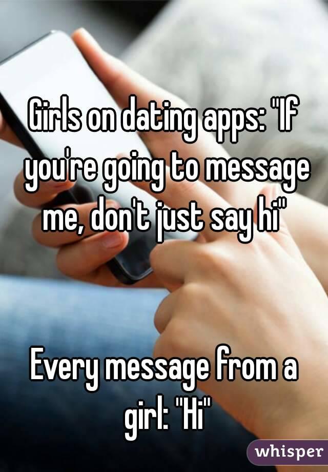 Just say hi dating app