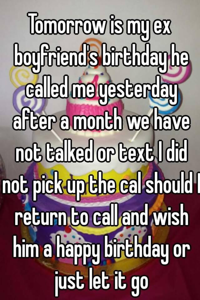 should i call my ex boyfriend