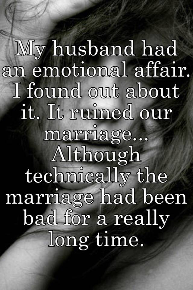 Husband having emotional affair