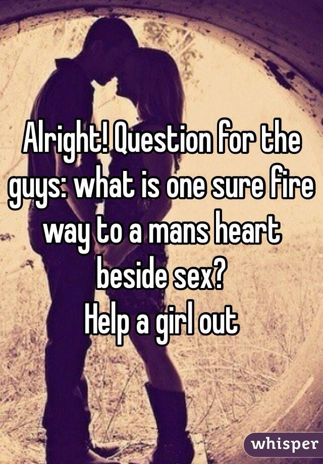 A question for the guys!!!!