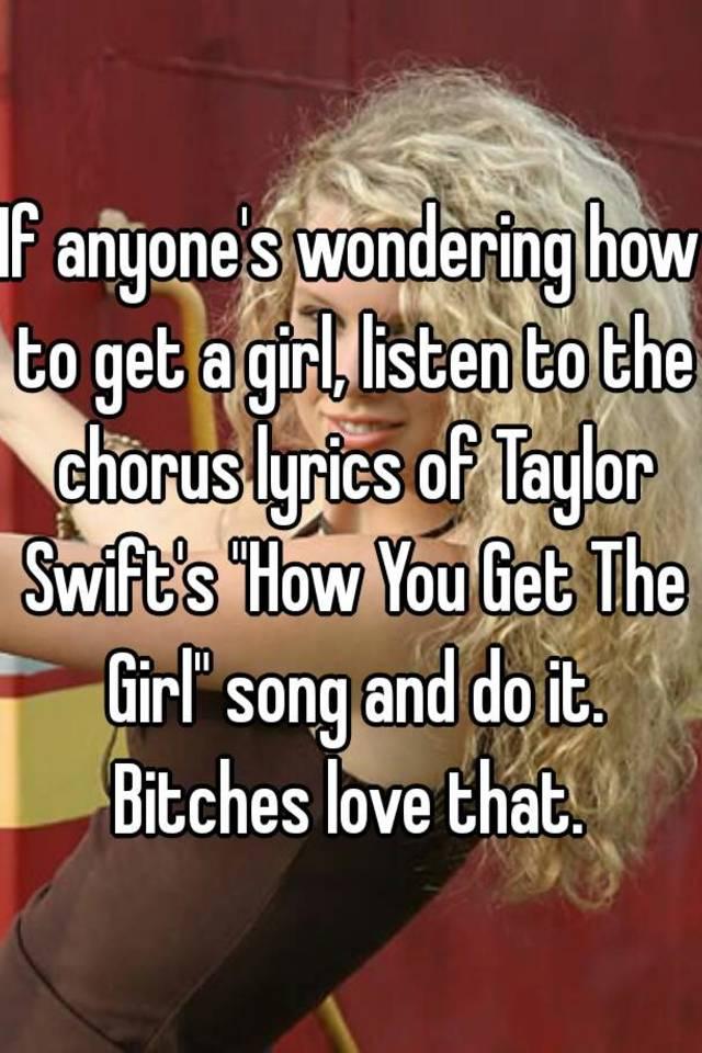 how you get the girl lyrics