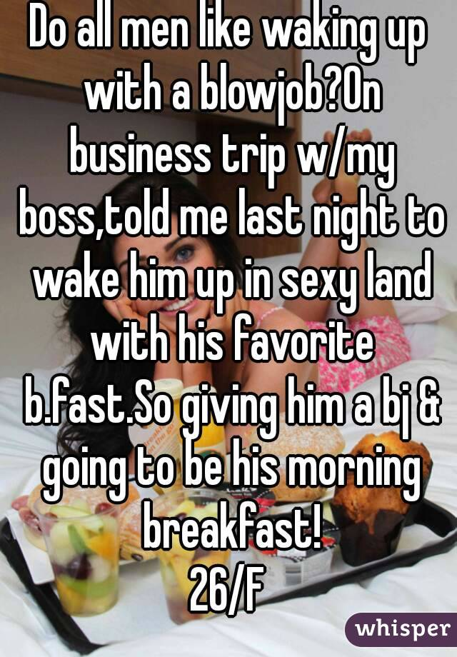 Wake Up To A Blowjob