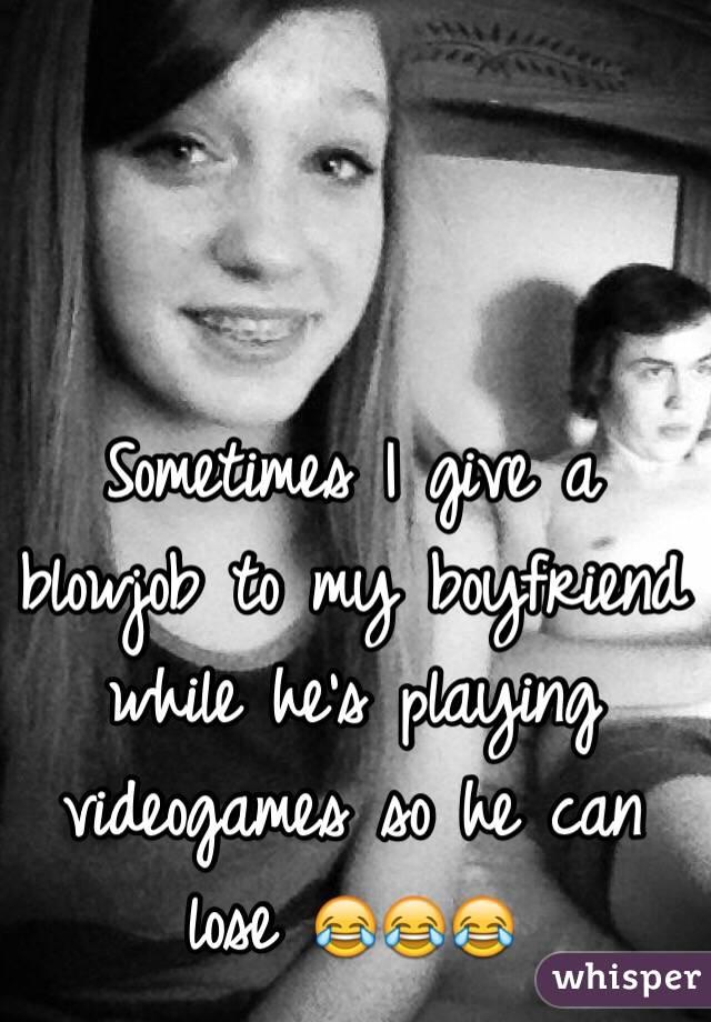 Videogame blowjob