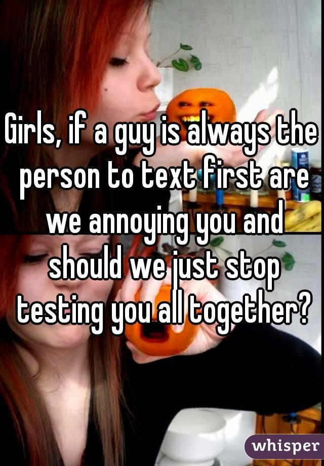 Should girls text first