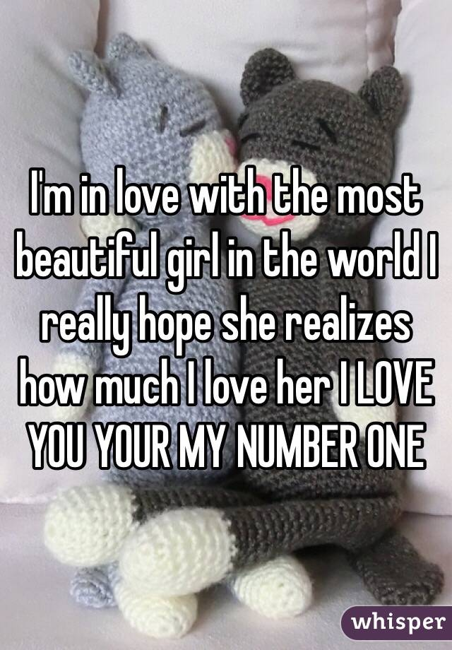 I m in love with a beautiful girl