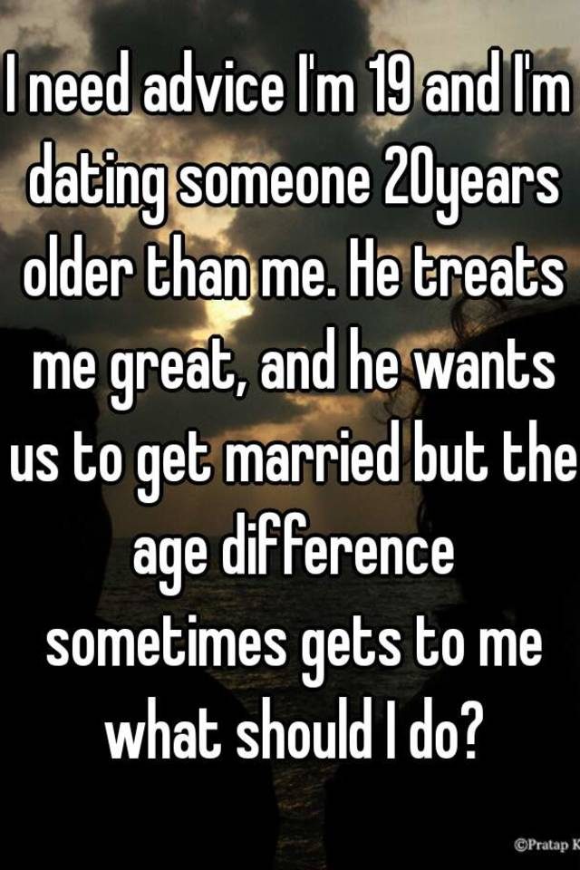 Few Years Someone Older Dating A