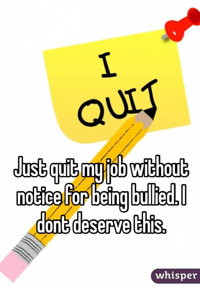 notice to quit job