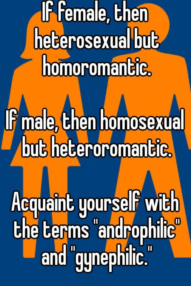 Homoromantic heterosexual