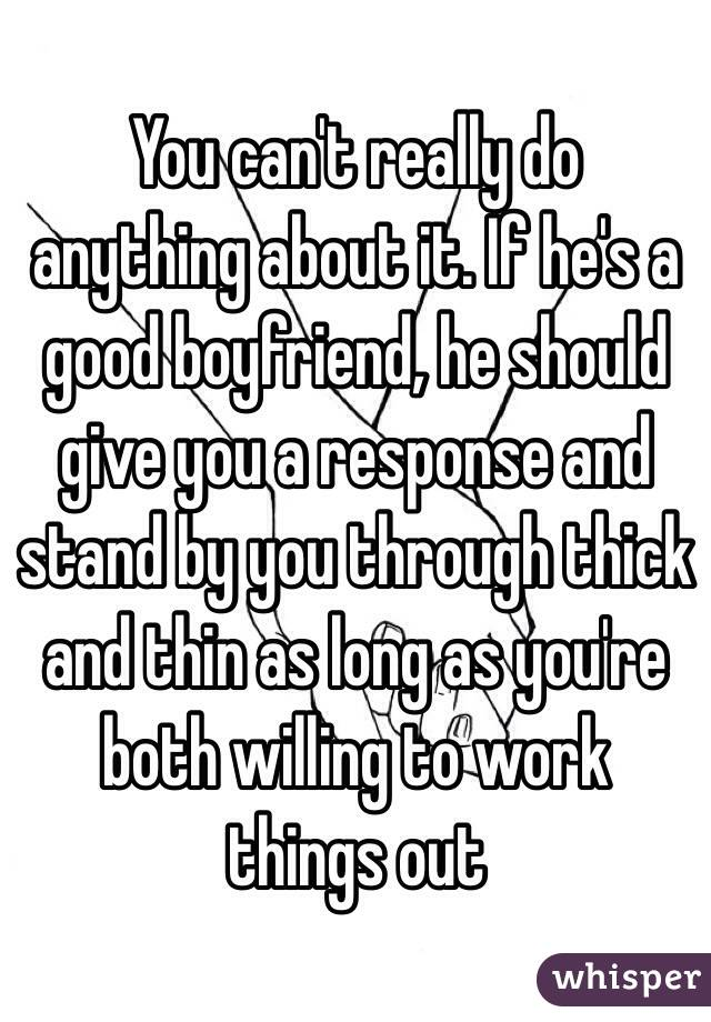 what should boyfriends do